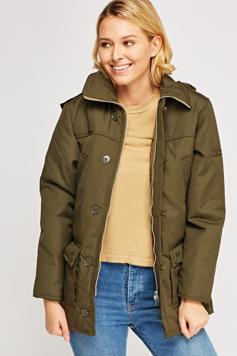 b024f741a200 Longline Hooded Parka Jacket - Just £5