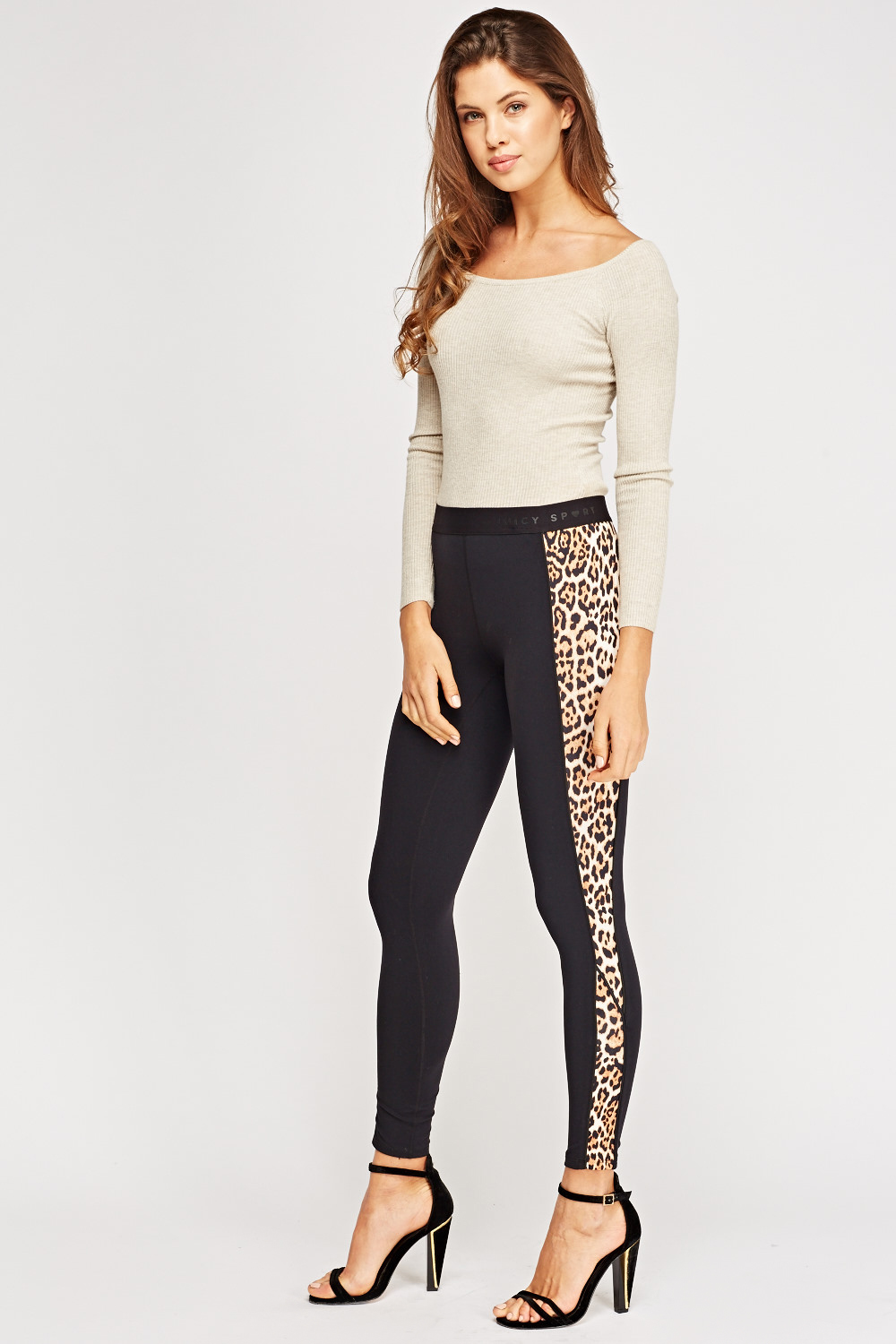 bc07a1cda2 Juicy Couture Sport Leopard Contrast Print Leggings - Limited edition