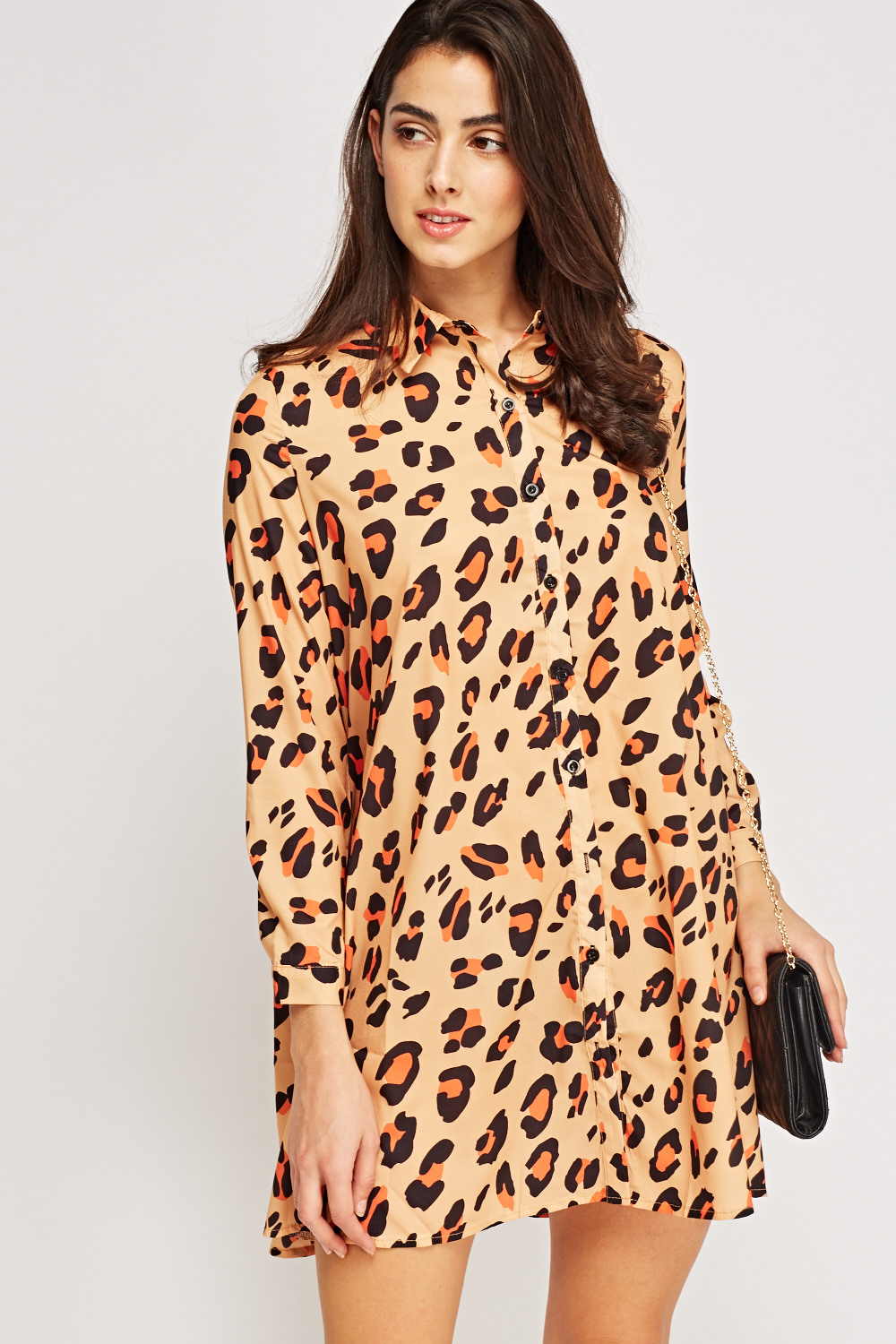 a5965b6e4b24 Leopard Print Shirt Dress - Just £5