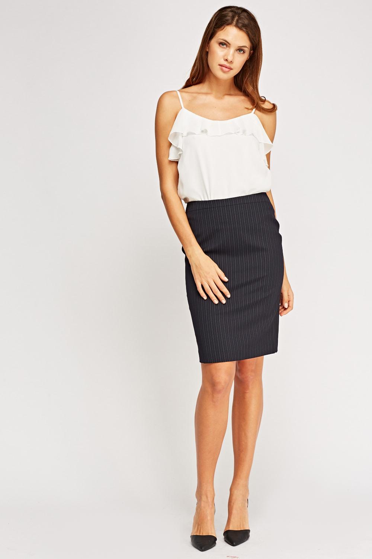 Pinstripe Formal Skirt Just 163 5