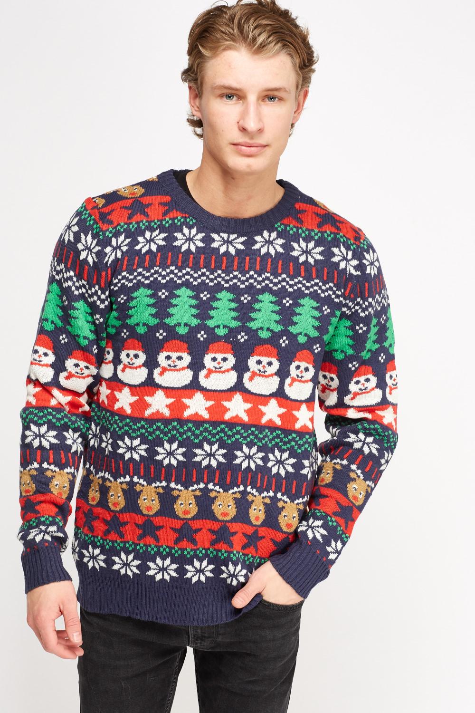 Mix Print Christmas Sweater - Just £5