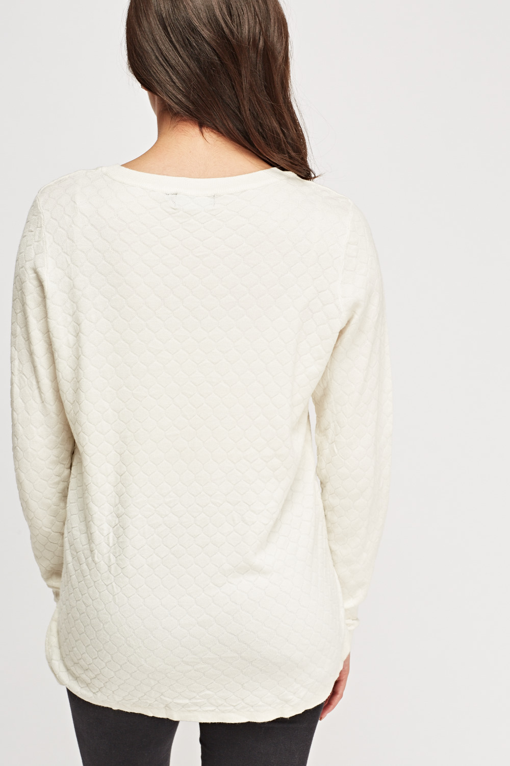 Honeycomb Thin Knitted Sweater Just 163 5