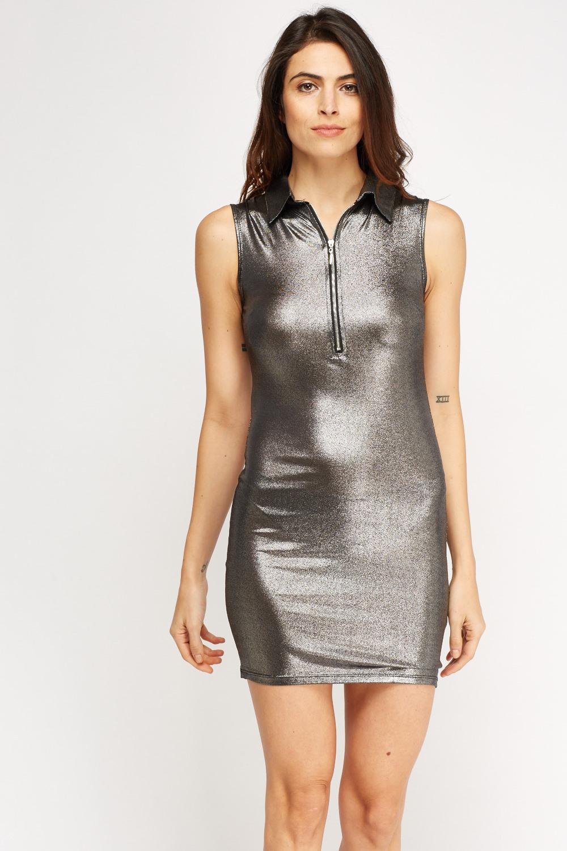 Metallic Sleeveless Mini Dress Just 163 5