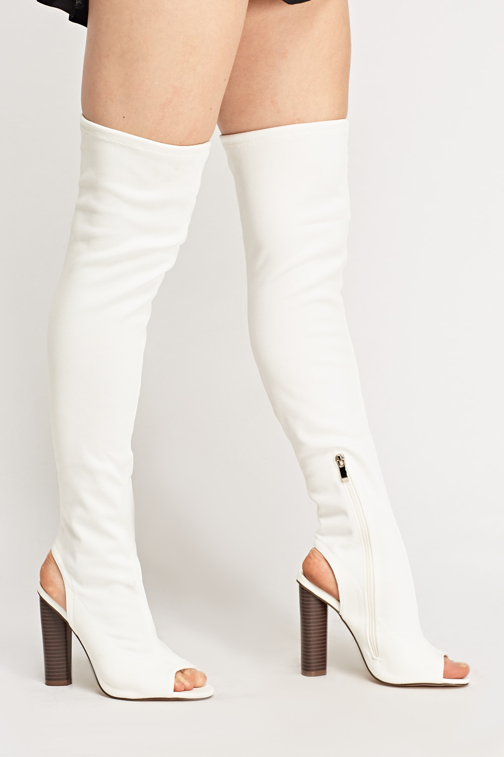 5984d18ae63 Peep Toe Over The Knee Boots - Just £5