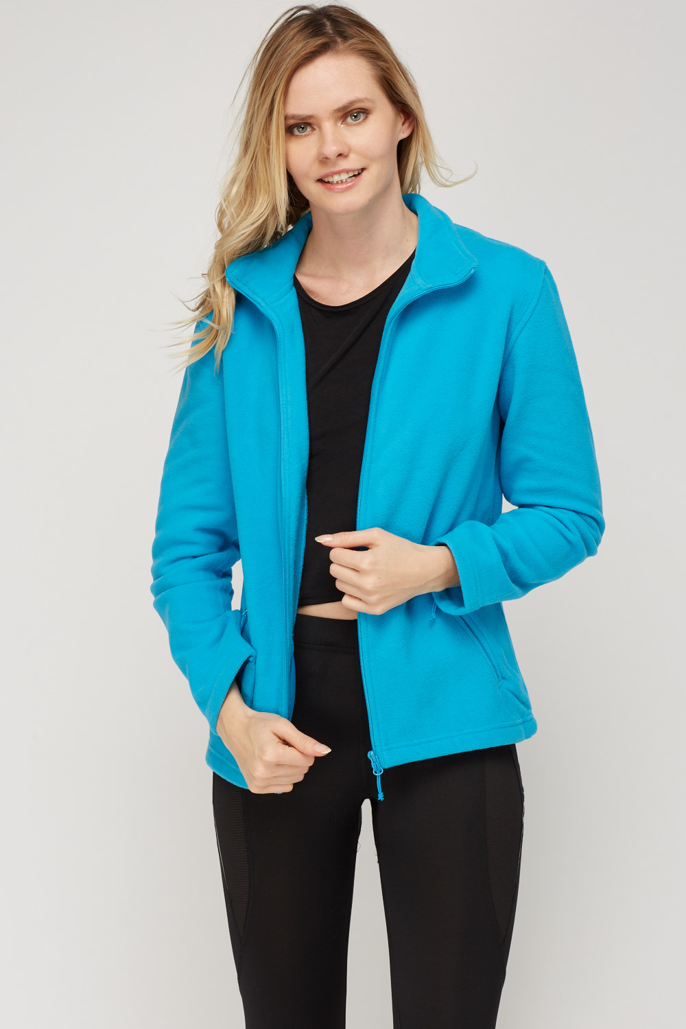 Zip front fleece jacket just 5 for Zip front flannel shirt