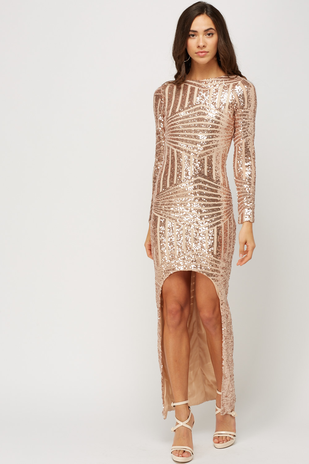 4cfb3d39cff Detailed Back Sequin Maxi Dress - Just £5