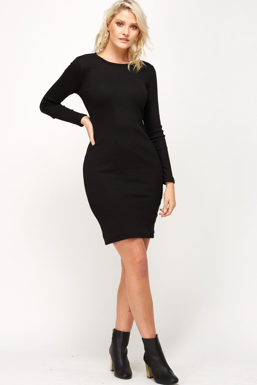 8e5724dd7da9 Long Sleeve Bodycon Dress - Just £5