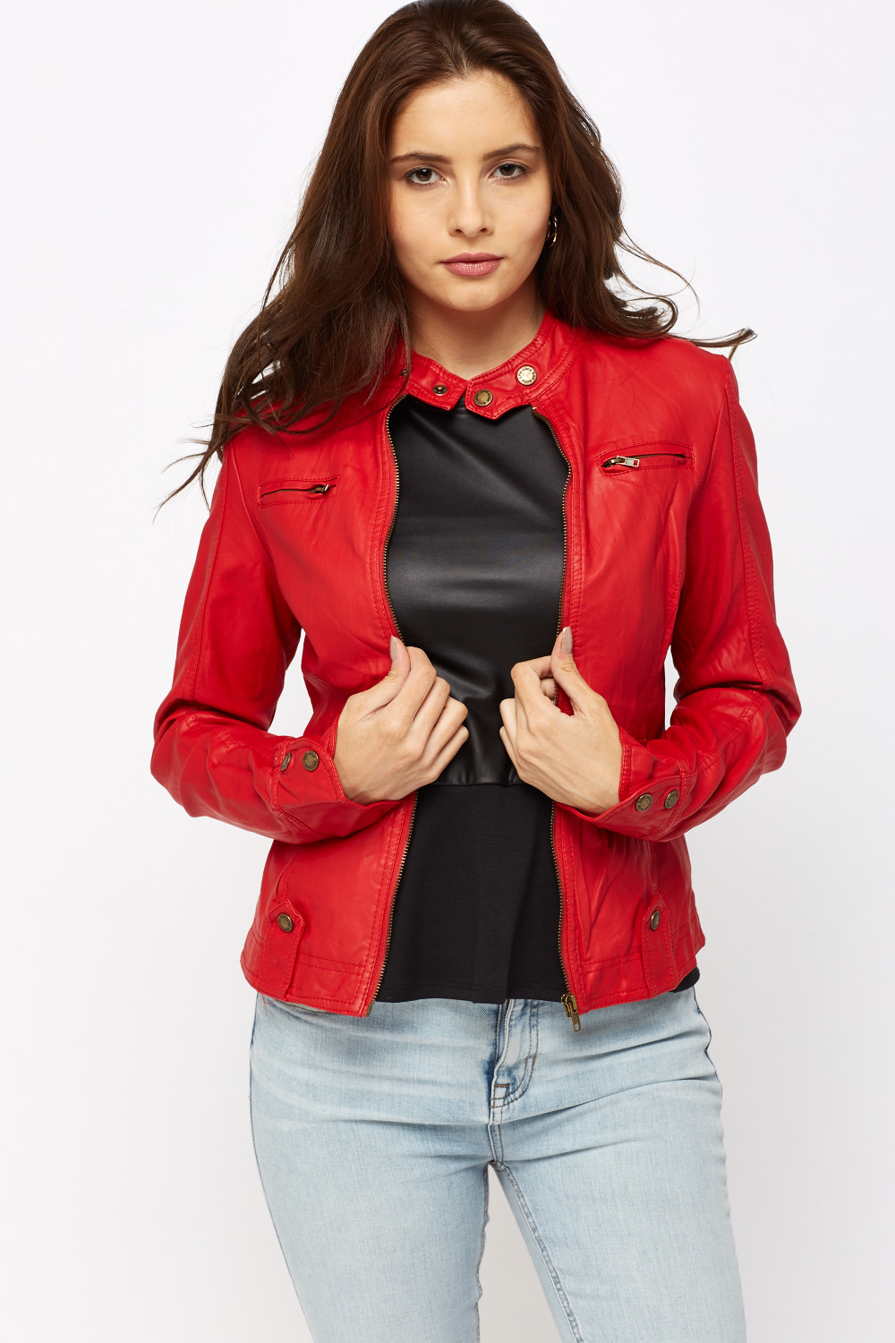 f0a64c318 Red Faux Leather Jacket - Just £5