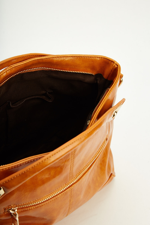 Faux Leather Light Camel Handbag Just 163 5