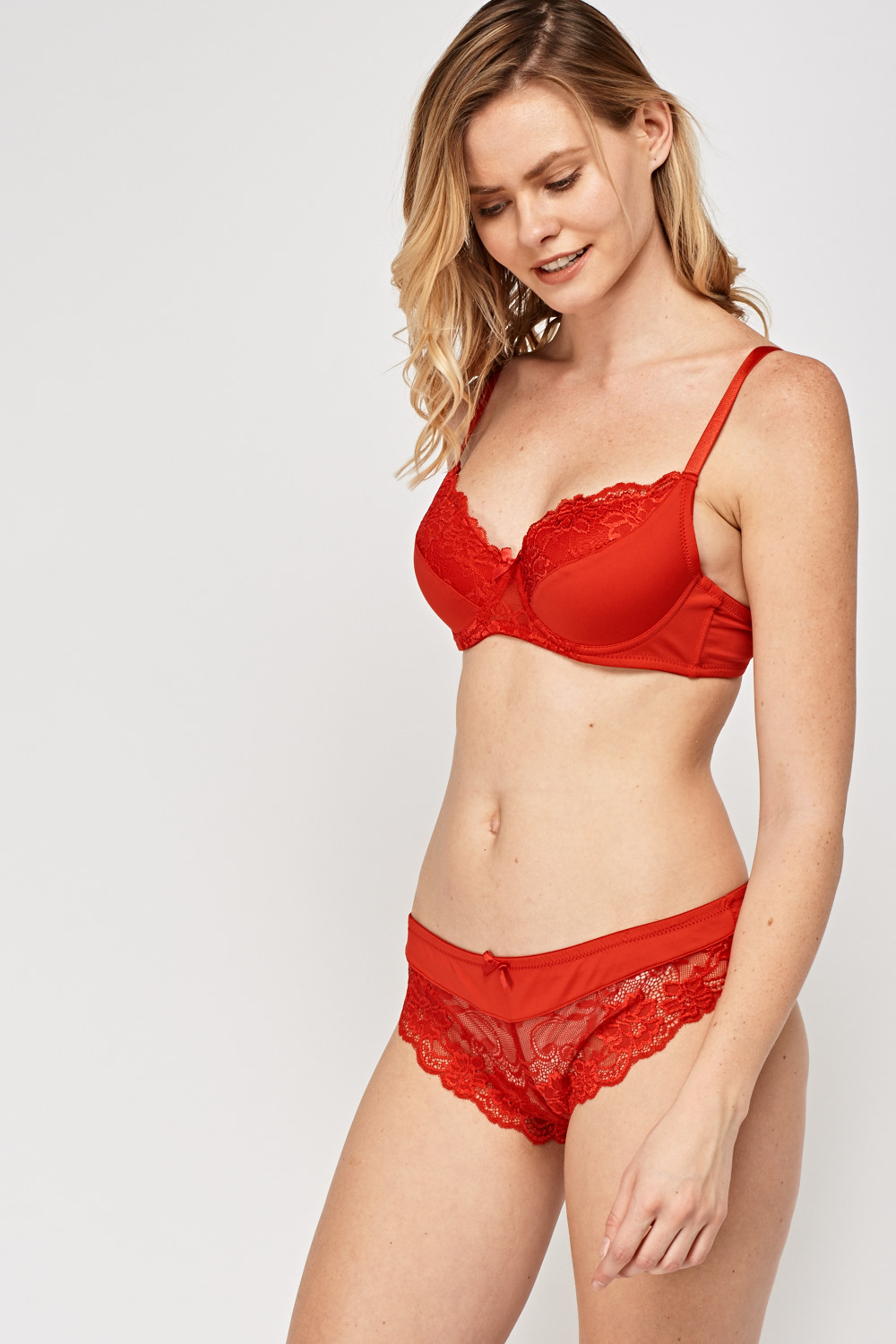 452979810a8 Lace Insert Bra And Brief Set - Just £5