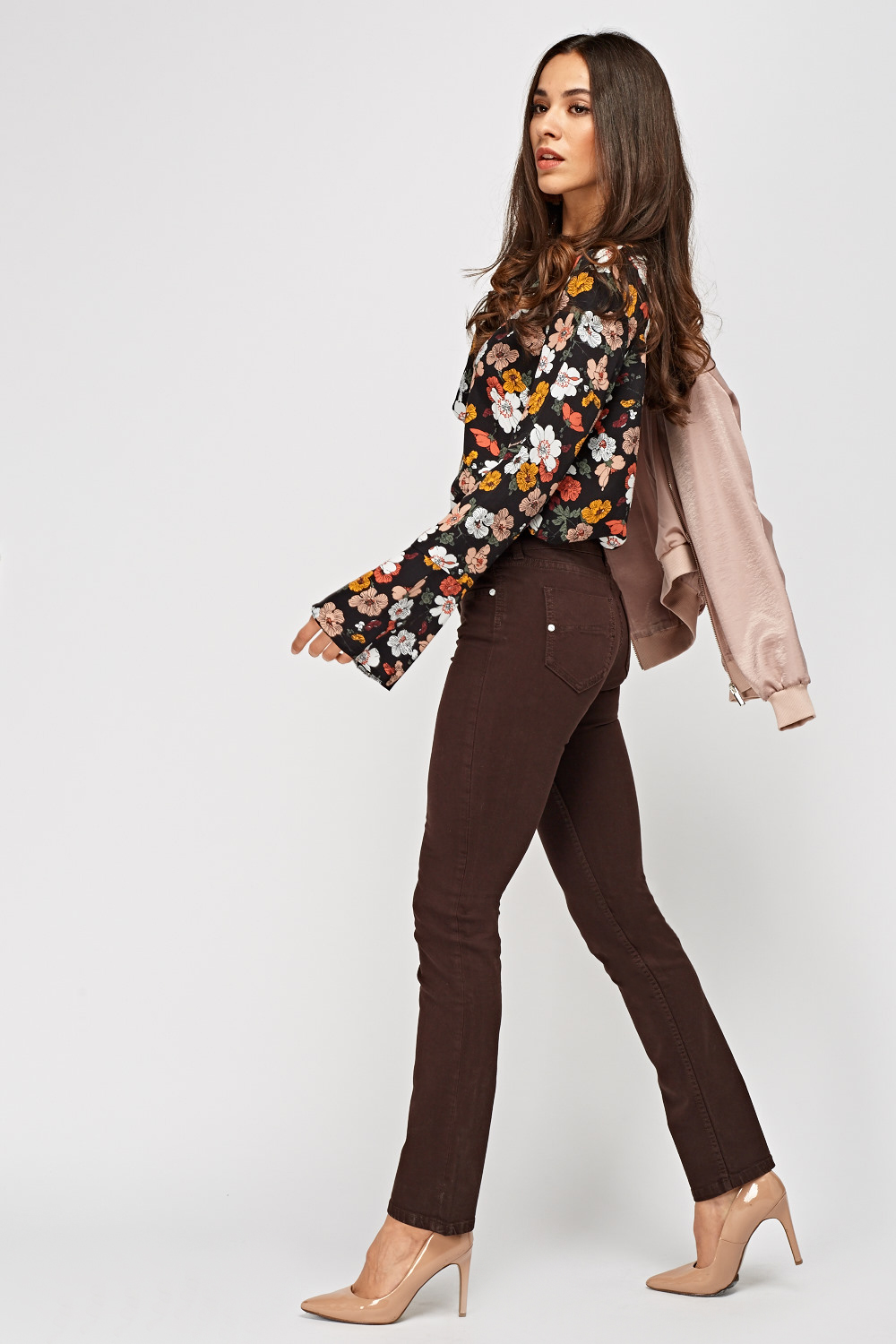Chocolate Slim Fit Jeans - Just $6