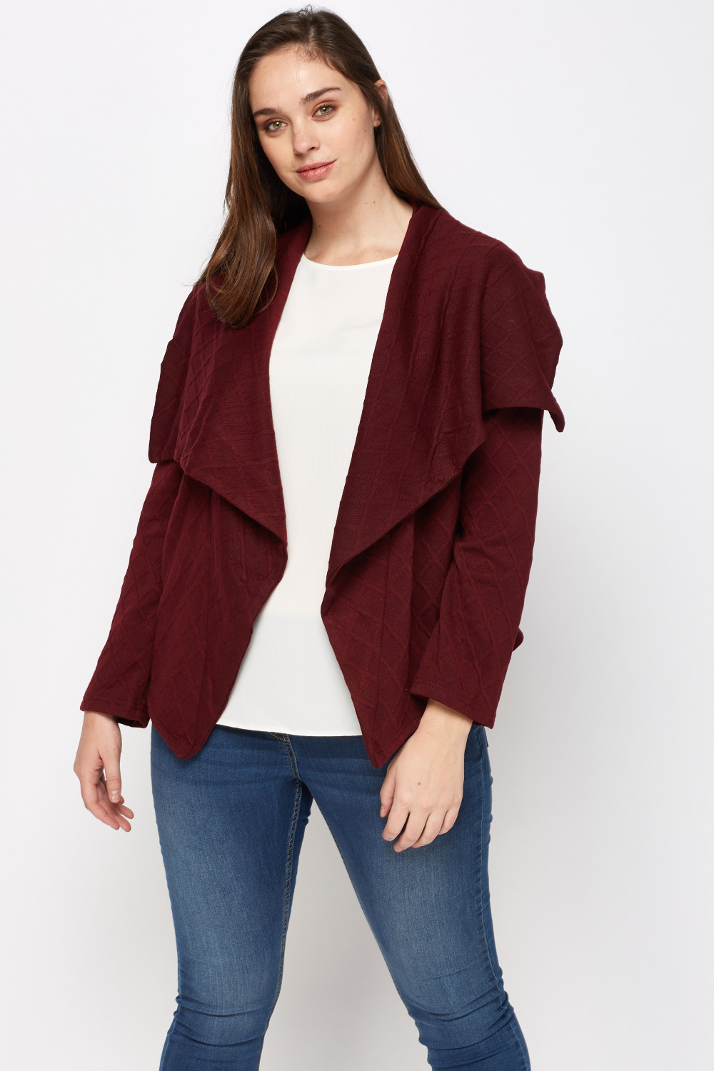 Textured Waterfall Cardigan - 4 Colours - Just £5
