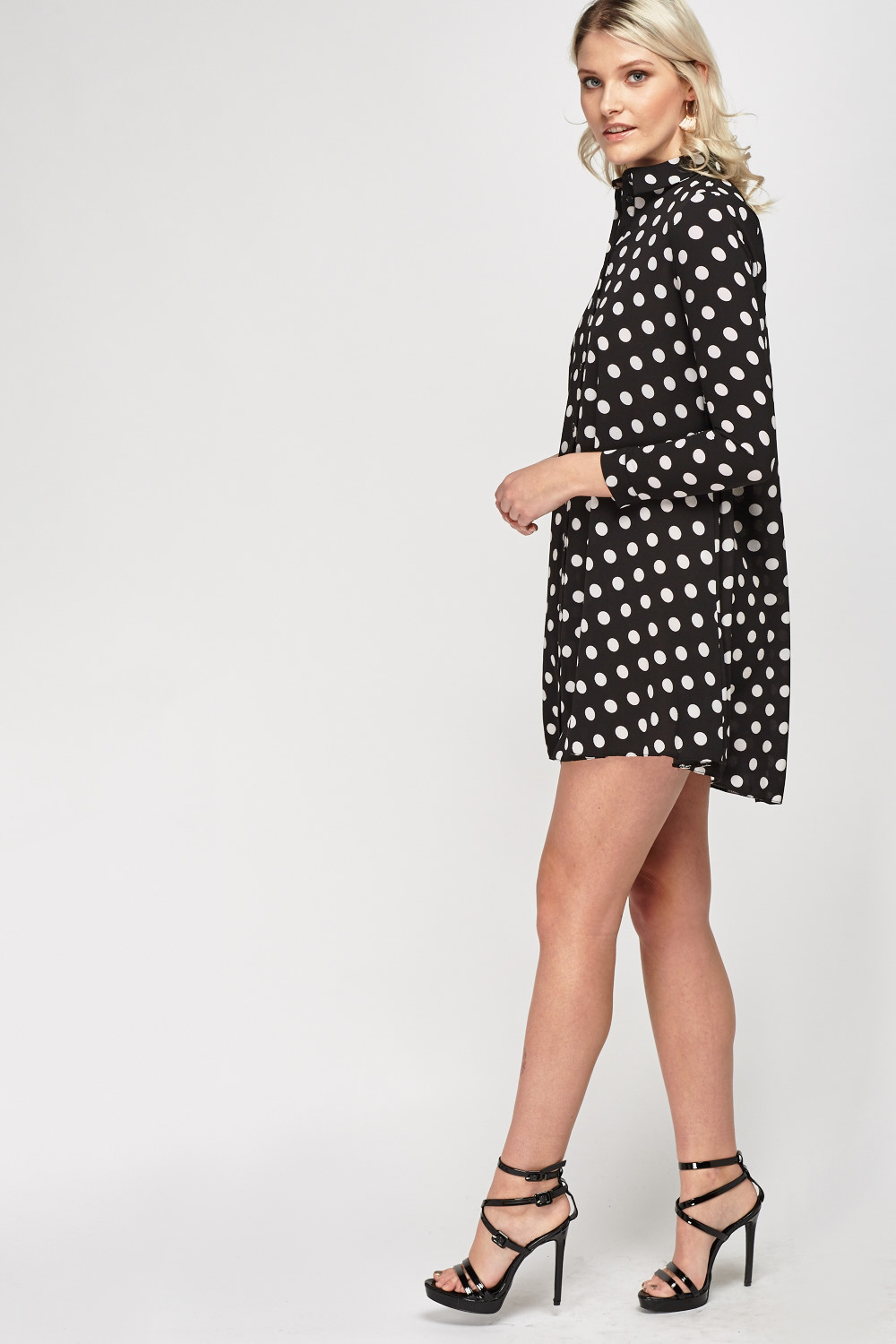 Polka Dot Shirt Dress Just 163 5