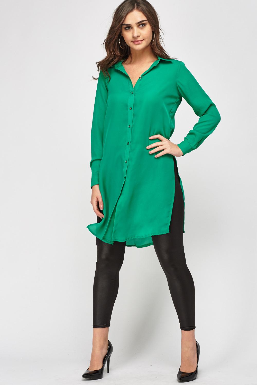 5072b48f0483b Long Line Sheer Shirt - Just £5