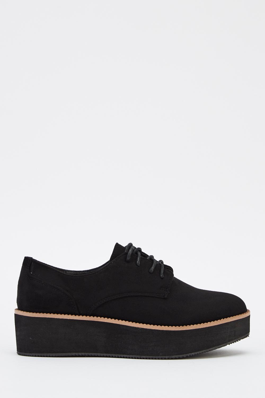683c324e04b4 Platform Suedette Lace Up Shoes - Just £5