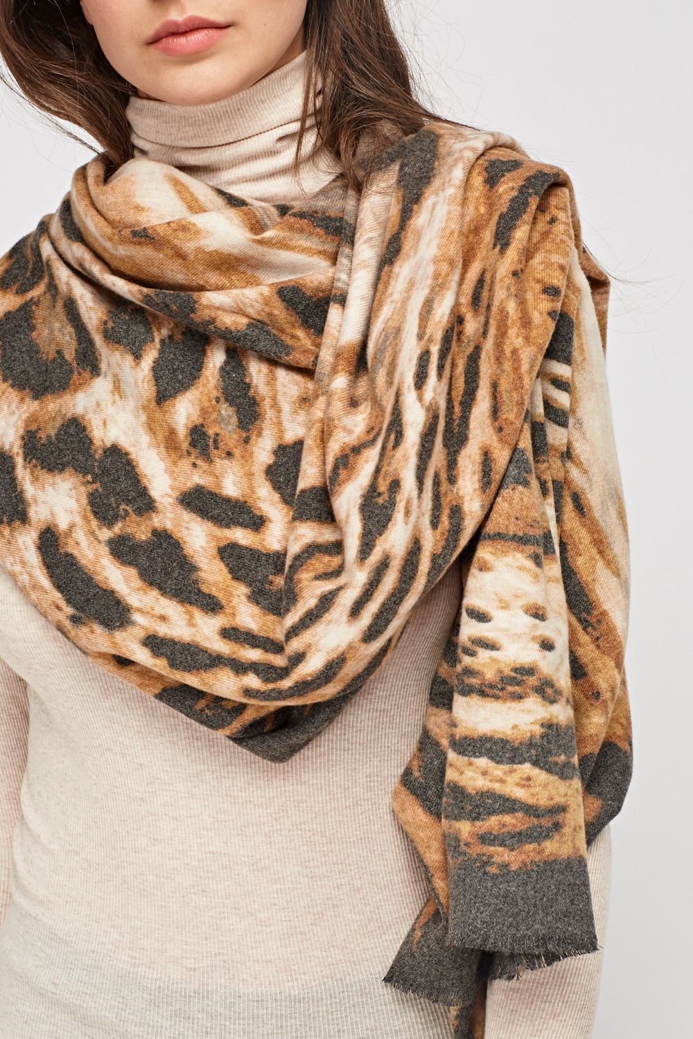 Soft Knit Animal Print Scarf Just 163 5