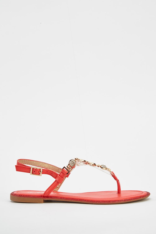 d3560706f4e T-Bar Embellished Sandals - Just £5