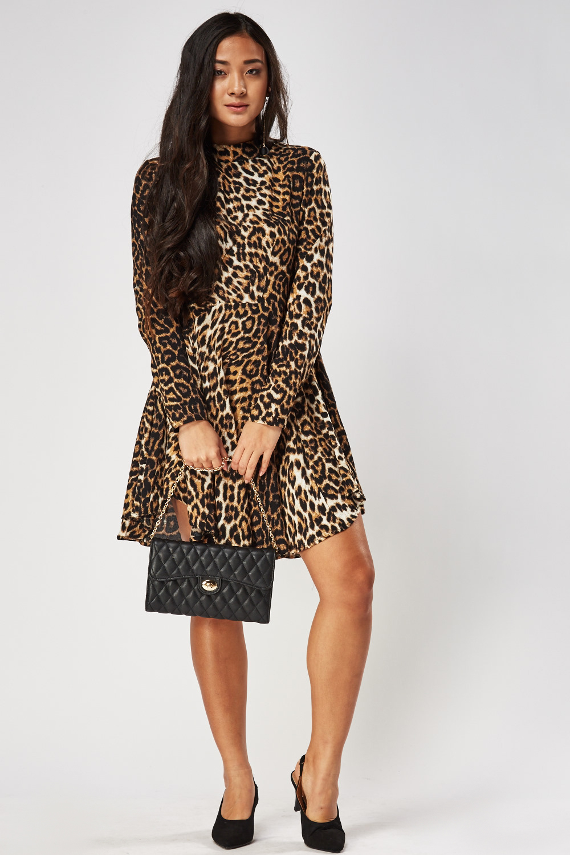 86e46d619d Leopard Print Swing Dress - Just £5
