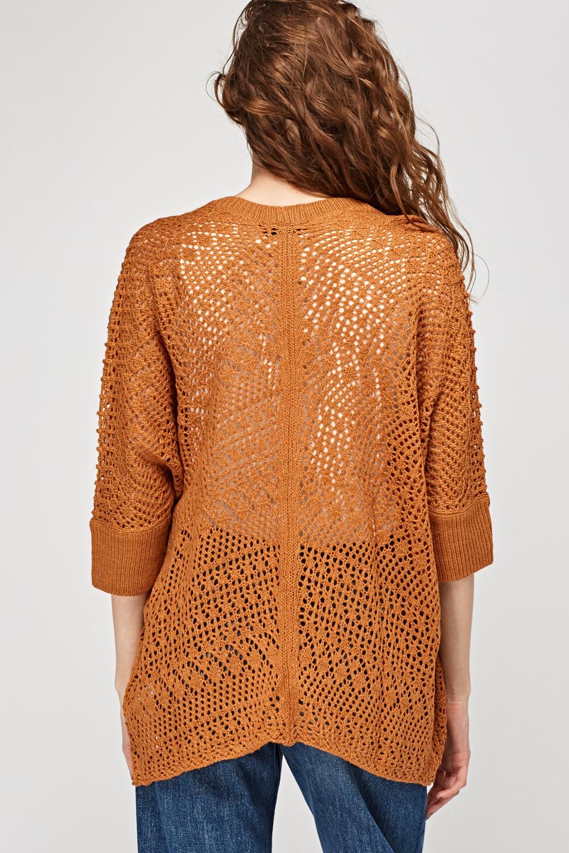 Loose Knit Colour Block Cardigan - Just $7