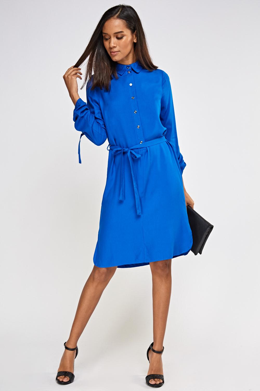 9aa174ec8a Royal Blue Shirt Dress - Just £5