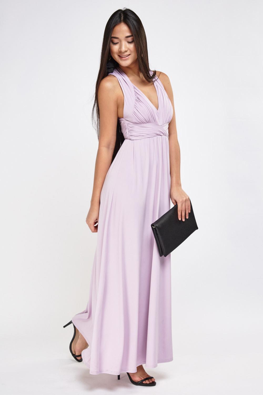 262f00c5cb9 Cross Back Ruched Maxi Dress - Just £5