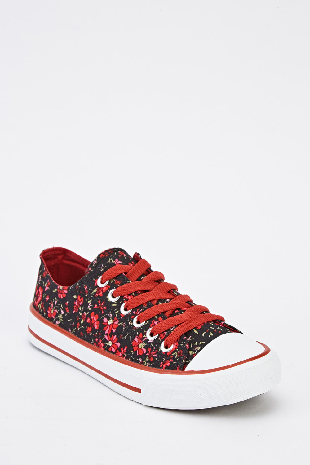 317a52cc736a9 Floral Printed Canvas Shoes - Just £5
