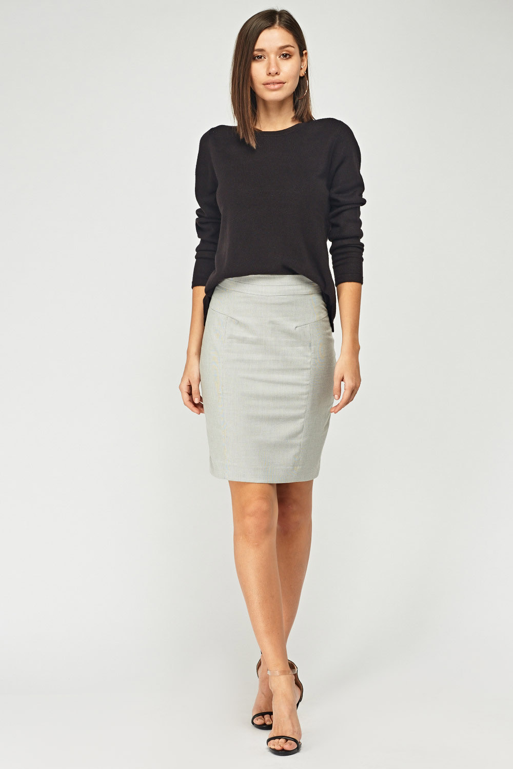 17da7b4d2 Grey Formal Pencil Skirt - Just £5