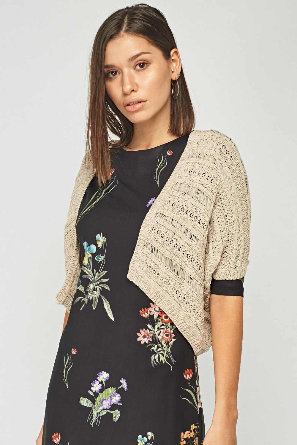 Loose Knit Cropped Ribbed Jumper - Just $7