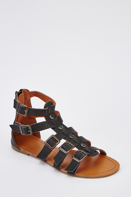 f8ceba56b Faux Leather Gladiator Sandals - Just £5