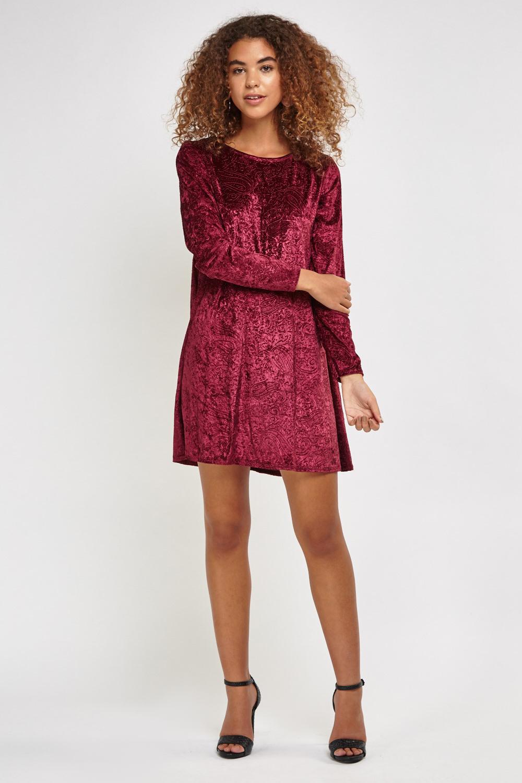 f9809da57bd1 Velveteen Paisley Contrast Swing Dress - Just £5