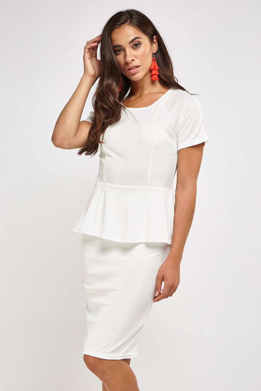 alice + olivia | Victoria Short Sleeve Peplum Dress
