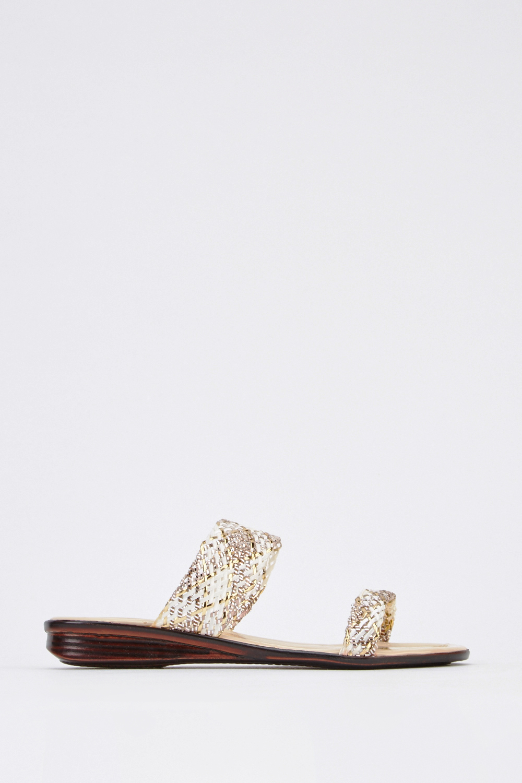 d4ab26118 Metallic Mesh Mule Flat Sandals - Just £5