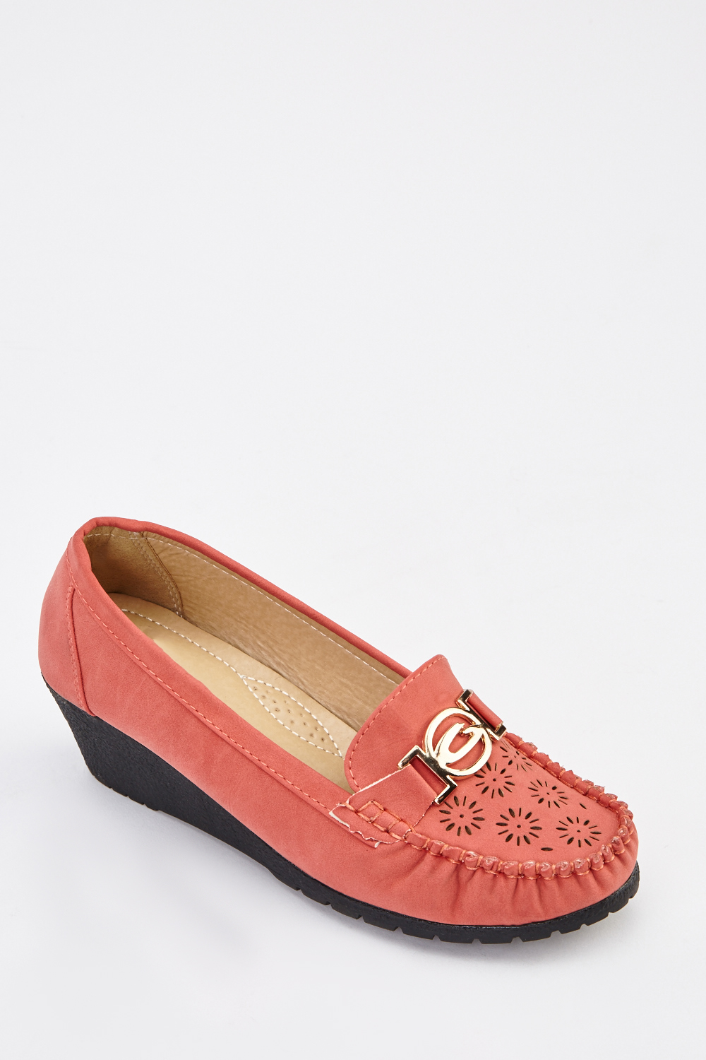 625f26d7a41 Detailed Front Wedge Moccasin Shoes - Just £5