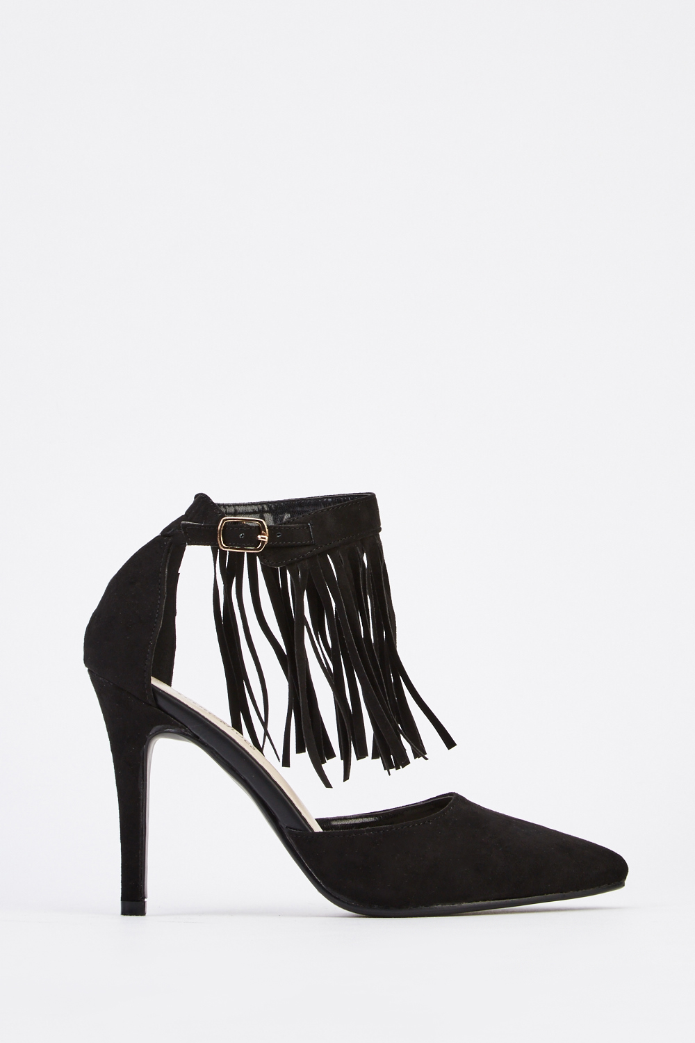 613551a048 Fringed Front Court Heels - Black - Just £5