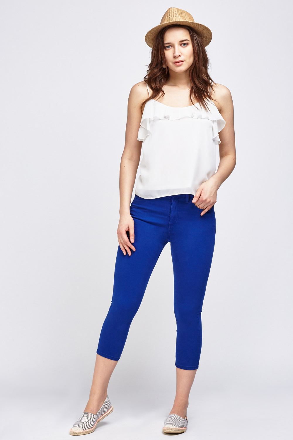 7f05aed668200a 3/4 Cropped Skinny Fit Jeans - Just £5
