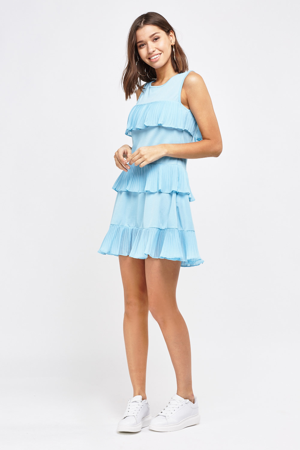 1fc75eb6ebfbd5 Pleated Frilly Layered Dress - Just £5