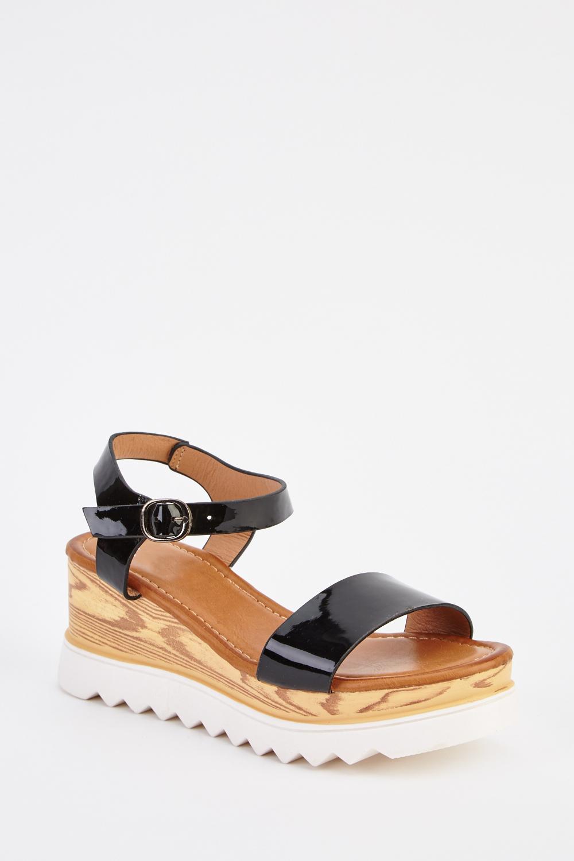 a7aa17d9f PVC Wedge Open Toe Sandals - Just £5