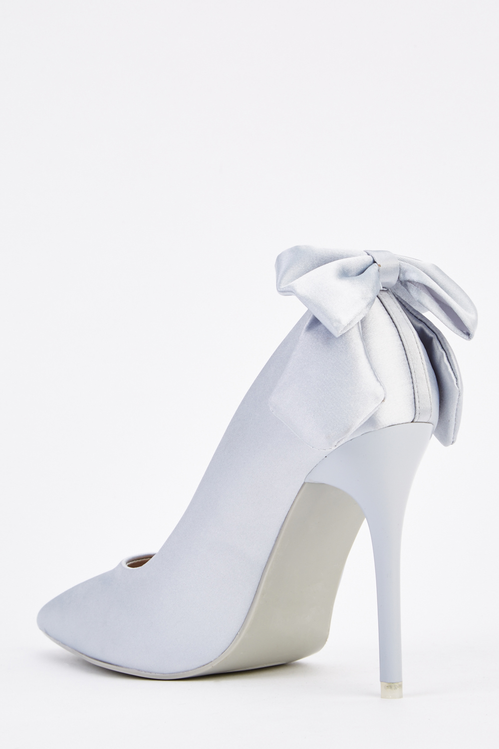 800547a2518 Sateen Bow Back Heels - Just £5