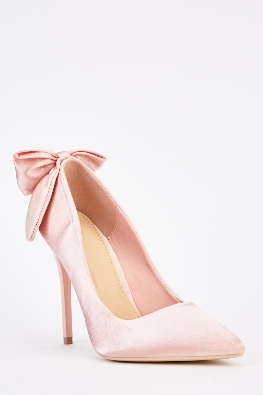 Sateen Bow Back Heels - Just £5