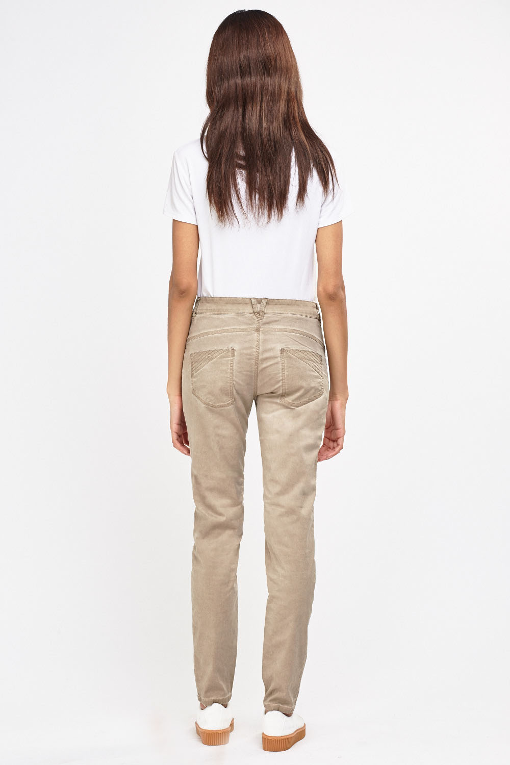 Washed Out Faded Light Trousers Beige Or Sand Just 163 5