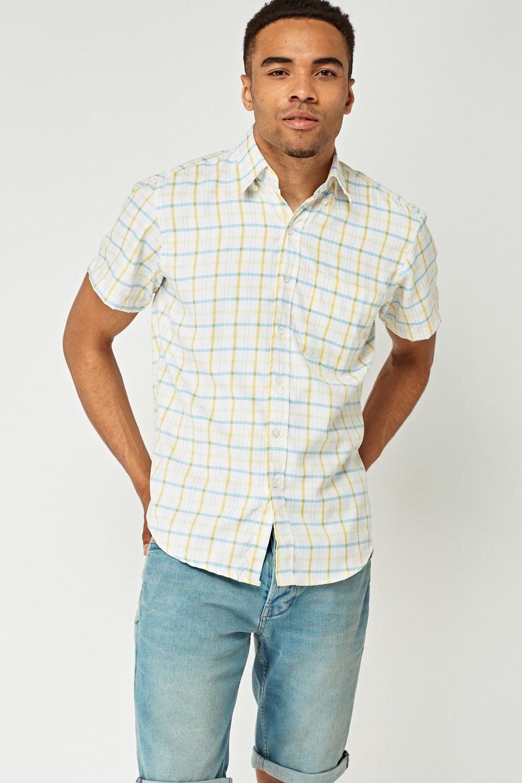 4dba227ba0 Short Sleeve Mens Checked Shirt - Just £5