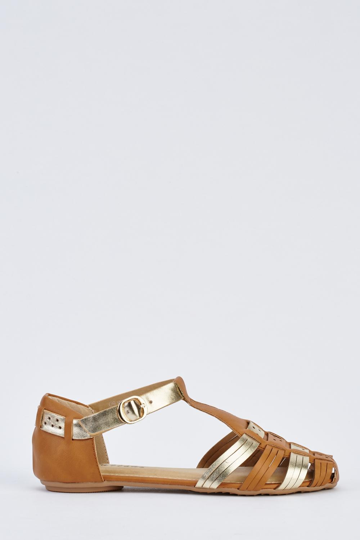 28d61dc3e075 Closed Toe Flat Gladiator Sandals - Just £5