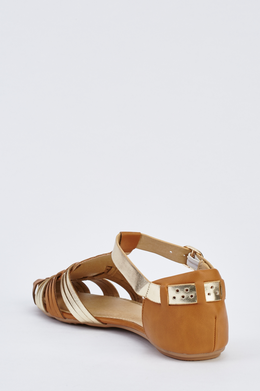 a16f502d81a9 Closed Toe Flat Gladiator Sandals - Just £5