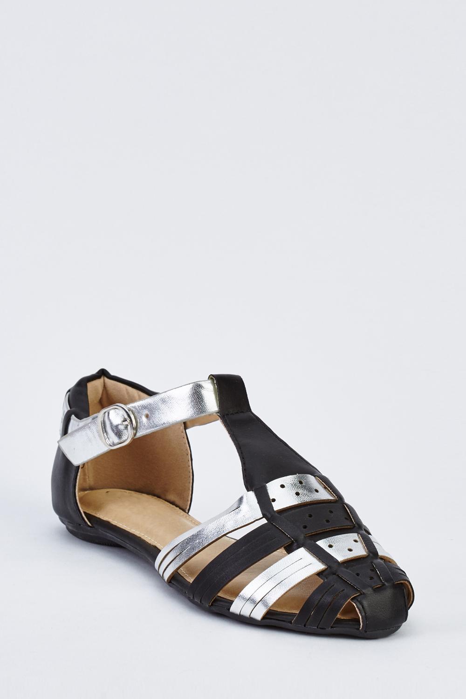 Closed Toe Flat Gladiator Sandals - Just $6