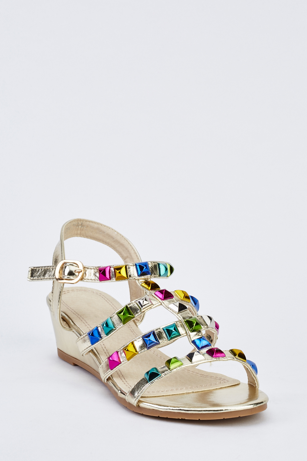 5c9cc2d5f05 Studded Low Wedge Gladiator Sandals - Just £5