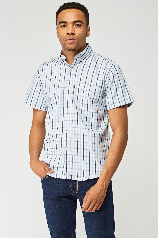 83f24f673a Checked Mens Short Sleeve Shirt - Just £5