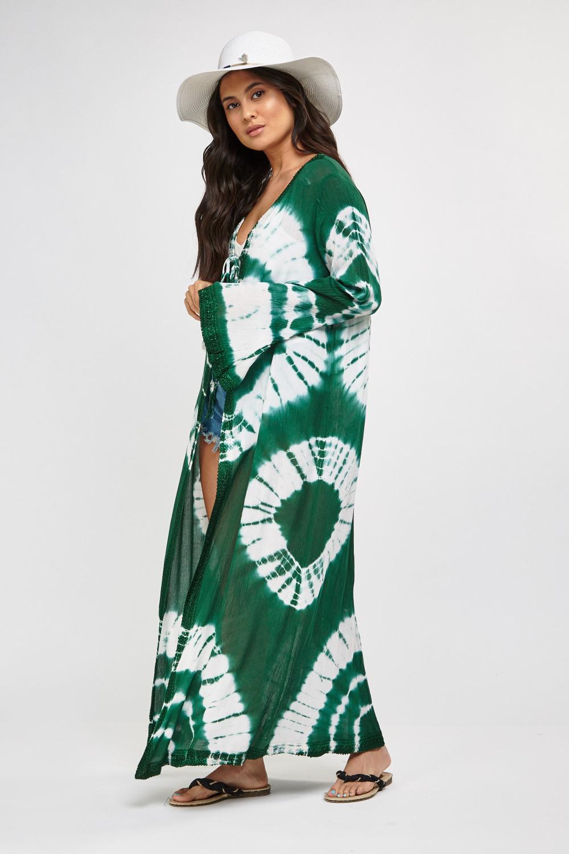 96abb50f43fe Shibori Dye Print Maxi kimono - Just £5