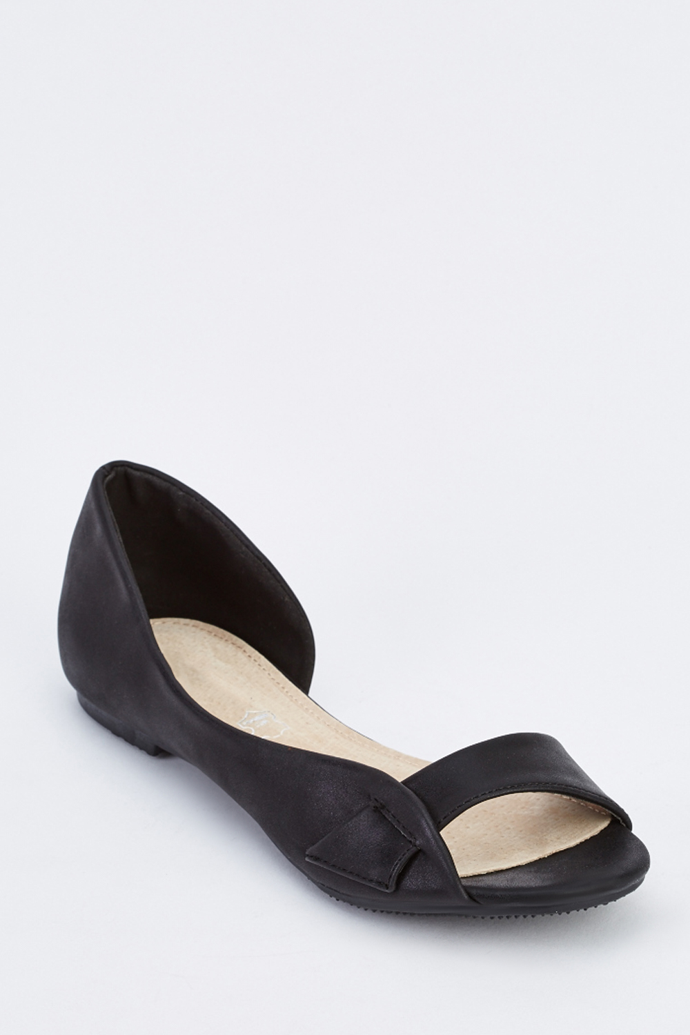 Cut Out Open Toe Flat Shoes - Just $6