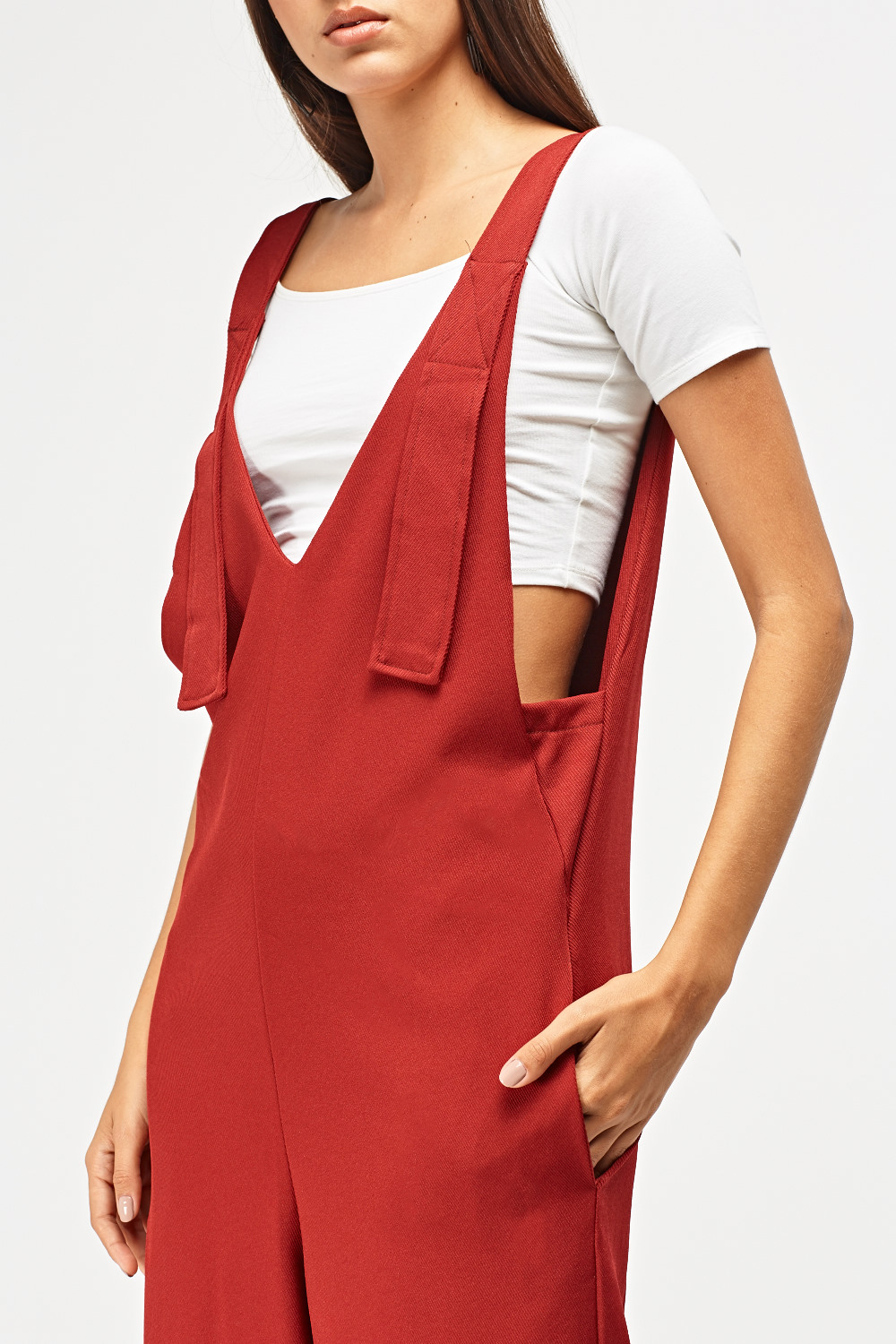 09bd4763b2ab Wide Leg Pinafore Jumpsuit. Click on the image to zoom