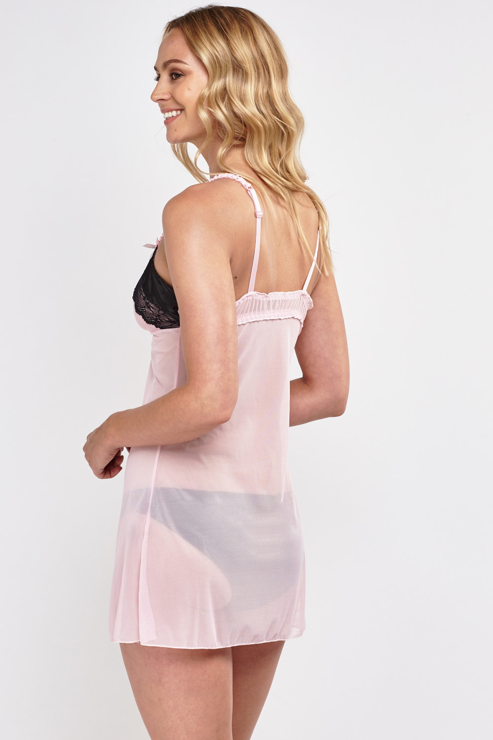 8d2344c196fb Lace Insert Triangle Sheer Slip Nighty - Just £5